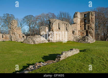The South East section of Spynie Palace, Elgin.  SCO 9557 - Stock Photo