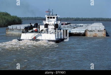 tugboat pushing barge mississippi river new orleans louisiana stock photo royalty free image. Black Bedroom Furniture Sets. Home Design Ideas