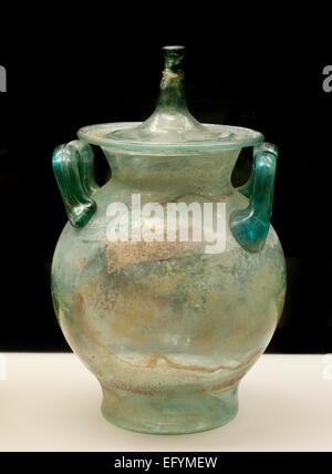 Glass Urn  Roman Germanic Museum Cologne Germany - Stock Photo