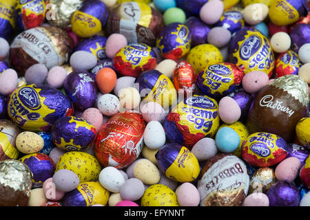 Chocolate mini easter eggs - Stock Photo
