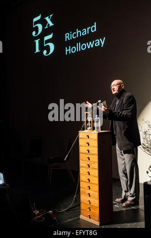 Immodesty Blaize, Elif Shafak, Charles Glass and Ed Smith and Richard Holloway 5 x 15 event @ The Tabernacle , London - Stock Photo