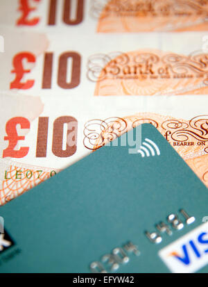 Limit on contactless card payments increasing to £30, London - Stock Photo