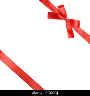 Red ribbon bow - Stock Photo
