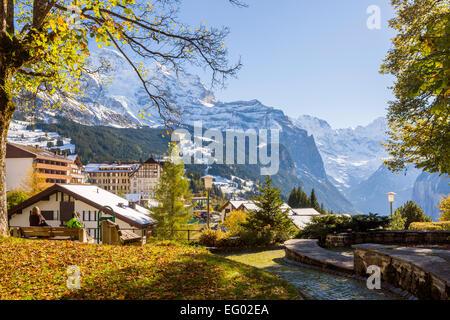 Wengen, Bernese Oberland, Swiss Alps, Switzerland, Europe - Stock Photo