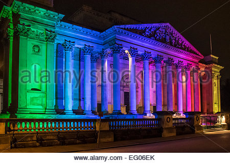 Cambridge, UK. 12th February, 2015. The e-Luminate Festival of light installations around the centre of Cambridge - Stock Photo