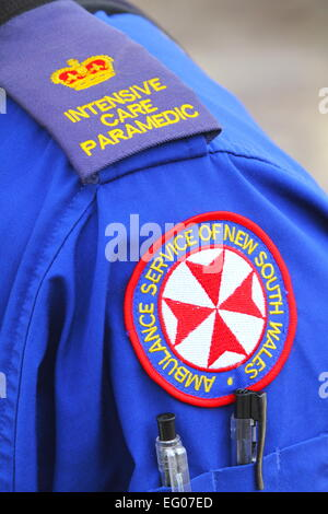 An intensive care paramedic within the Ambulance Service of NSW Special Operations team - Sydney, Australia. - Stock Photo