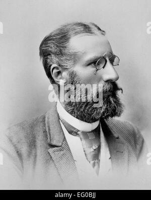Gustaf Adolf Sellergren, Swedish engineer, head-and-shoulders portrait, facing right, circa 1900 - Stock Photo