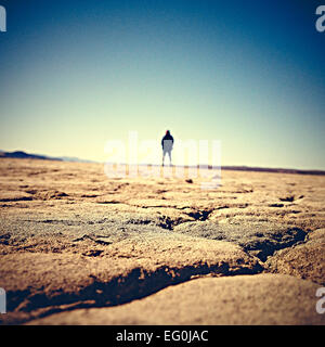 USA, California, Adelanto, El Mirage Dry Lake - Stock Photo