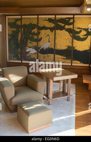 FILE: Los Angeles, California, USA. 24th January, 2015.Frank Lloyd Wright's Hollyhock House to re-open 13th February, - Stock Photo
