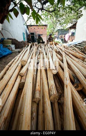 Kon Tum minority communities, Vietnam.Bahnar (Ba Na) ethnic group  - style life. - Stock Photo