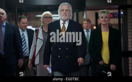 UNITED KINGDOM, London : Former radio and TV presenter Dave Lee Travis arrives at Southwark Crown Court for sentencing - Stock Photo