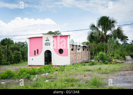 Seventh Day Adventist Church in Jungle region of Northern Peru - Stock Photo
