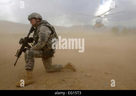PARWAN PROVINCE, Afghanistan – 1st Sgt. James Herrington, Parwan Provincial Reconstruction Team first sergeant, - Stock Photo