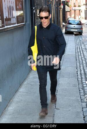 Cillian Murphy and Stephen Rea arrive at The Olympia Theatre for their performance in 'Ballyturk', which runs until - Stock Photo
