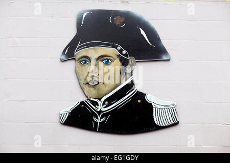Plaque on Napoleons Night club wall of Napoléon Bonaparte - Stock Photo