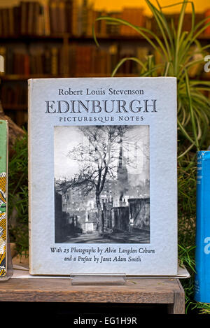 A copy of  'Edinburgh, Picturesque Notes' by Robert Louis Stevenson and illustrated with photographs by Alvin Langdon - Stock Photo