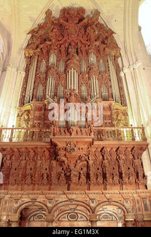 Interior of Cathedral of Saint Mary of the See (Catedral de Santa Maria de la Sede), Seville, Andalusia, Spain - Stock Photo