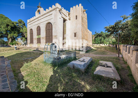 New Church of St. Mary of Zion in the City of Axum - Stock Photo