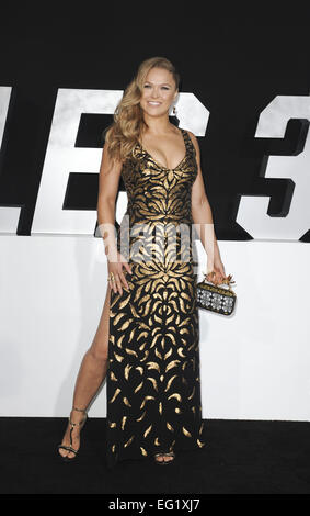 Los Angeles premiere of 'The Expendables 3' at TCL Chinese Theatre - Arrivals  Featuring: Ronda Rousey Where: Los - Stock Photo