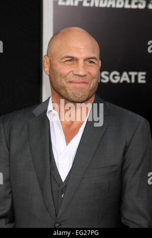 'The Expendables 3' Premiere held at the TCL Chinese Theatre - Arrivals  Featuring: Randy Couture Where: Los Angeles, - Stock Photo