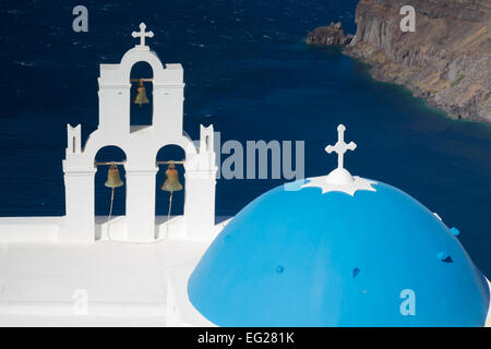 Church of Firostefani, Santorini, Cyclades, Greece - Stock Photo