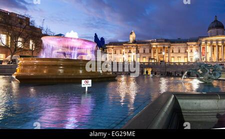 Trafalgar Square London. - Stock Photo