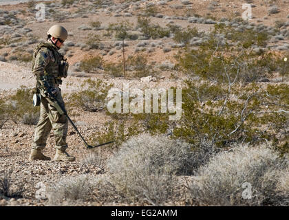 U.S. Air Force Staff Sgt. Daniel Esselstrom, 23rd Civil Engineer Squadron explosive ordnance disposal technician, - Stock Photo