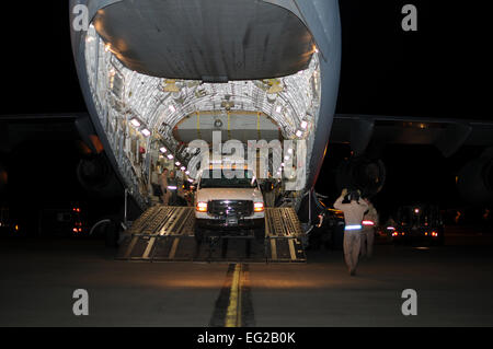 STEWART AIR NATIONAL GUARD BASE, N.Y. --An SUV belonging to New York Task Force 1, New York City's FEMA-sponsored - Stock Photo