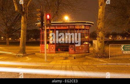 Old Tram shelter which was built in 1924 on the Kettering rd at The White Elephant junction. Northampton. - Stock Photo