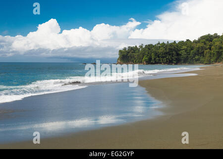 Tripical beach,Corcovado National Park, Osa Peninsula, Costa Rica, Central America - Stock Photo