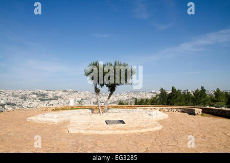 Israel, Lower Galilee, Mount Precipice overlooking Nazareth - Stock Photo