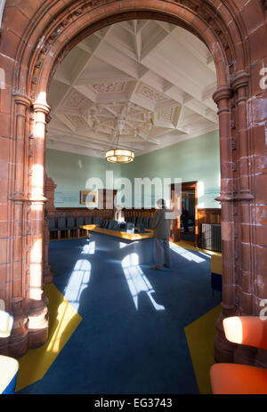 Interior of the Pierhead Building, Cardif Bay, Cardiff, Wales - Stock Photo