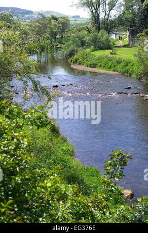 The River Coquet, Rothbury, Northumberland - Stock Photo