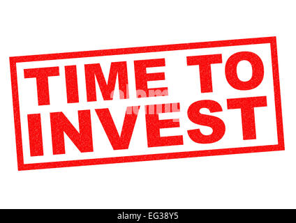 TIME TO INVEST red Rubber Stamp over a white background. - Stock Photo