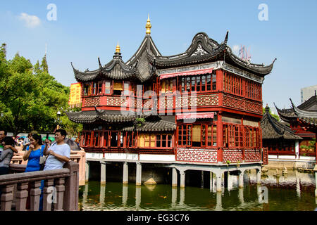 ... The Huxinting Old Teahouse In Shanghai, China   Stock Photo