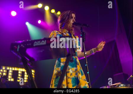 Austin, TX, USA. February 15 2015. Sydney Sierota of American indie pop band Echosmith. © J. Dennis Thomas/Alamy - Stock Photo