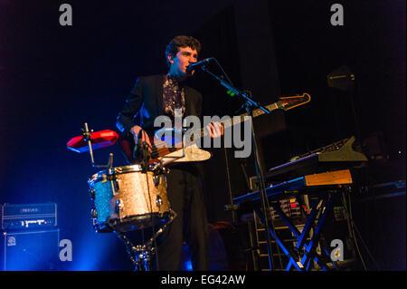 Austin, TX, USA. February 15, 2015. Noah Sierota of American indie pop band Echosmith.©J. Dennis Thomas/Alamy Live - Stock Photo