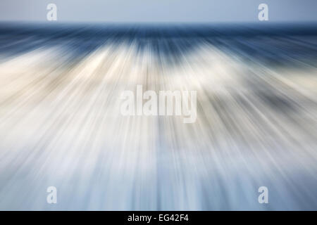 Motion blurred picture of a sea, nature background. - Stock Photo