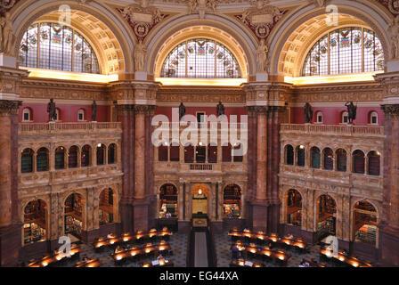 Library of Congress, Capitol Hill, Washington DC, USA - Stock Photo