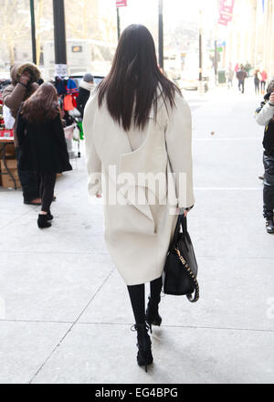 New York City, New York, USA. 15th February, 2015. Kayshle arriving at the Victoria Beckham runway show in New York - Stock Photo