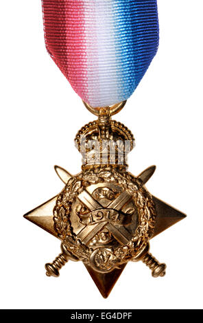 First World War medal - 1914 Star (Cutout) - Stock Photo