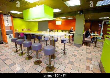 McDonalds restaurant interior. - Stock Photo