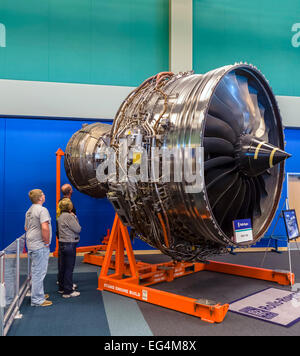 A Rolls-Royce Trent 1000 turbofan engine, Infinity Science Center, John C Stennis Space Center, Mississippi, USA - Stock Photo