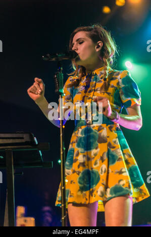 Austin, TX, USA. February 15, 2015. Sydney Sierota of American indie pop band Echosmith. The band consists of four - Stock Photo