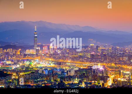 Taipei, Taiwan Cityscape from Neihu District. - Stock Photo