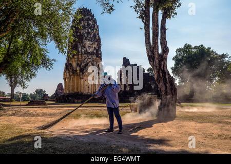 Asia. Thailand, old capital of Siam. Sukhothai archaeological Park, Si Satchanalai, Wat Phra Si Ratana.