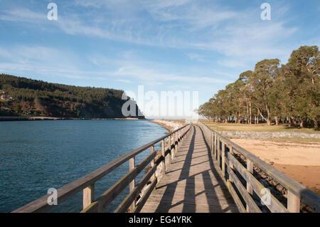 Rodiles beach, Asturias, north Spain - Stock Photo