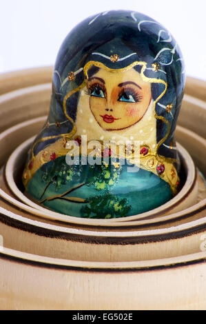Russian Nesting Doll, Russia, Doll, Babushka, Russian Culture, No People, Macro, Close-up, Equipment, Small, Circle,toy,craft - Stock Photo