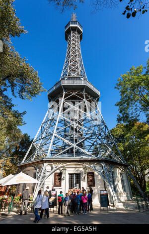 Lookout Tower on Petrin Hill, Prague - Stock Photo