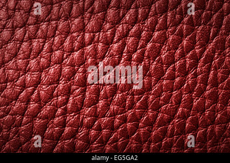 Genuine red leather background, pattern. High resolution photograph. - Stock Photo